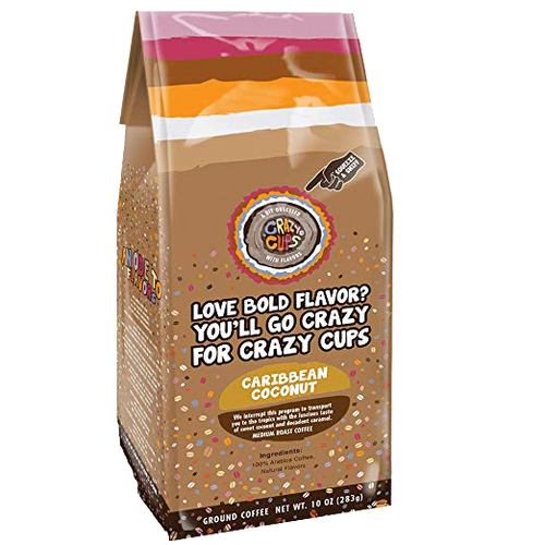 Caribbean Coconut Ground Bag Flavored Coffee by Crazy Cups