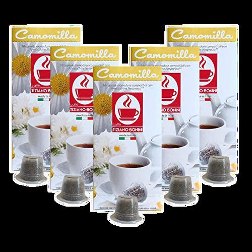 Camomilla Nespresso Tea 50 Count by Caffe Bonini