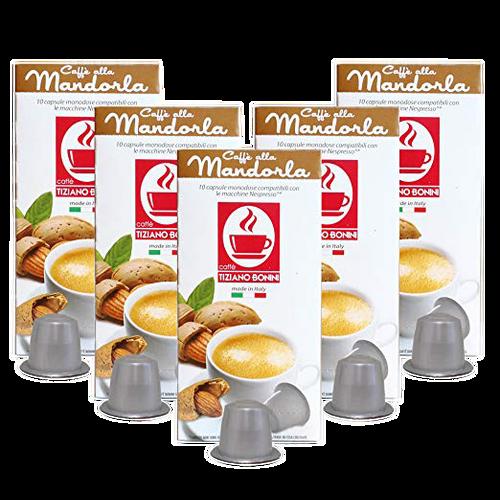 Mandorla Nespresso Flavored Espresso 50 Count by Caffe Bonini