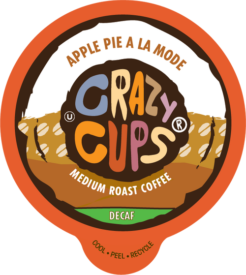 Decaf Apple Pie A La Mode Flavored Coffee by Crazy Cups