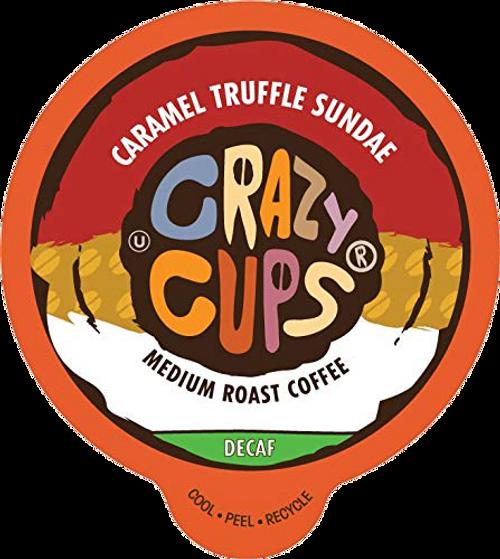 Decaf Caramel Truffle Sundae Flavored Coffee by Crazy Cups