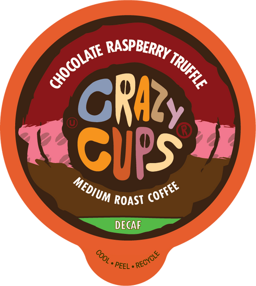 Decaf Chocolate Raspberry Truffle Flavored Coffee by Crazy Cups