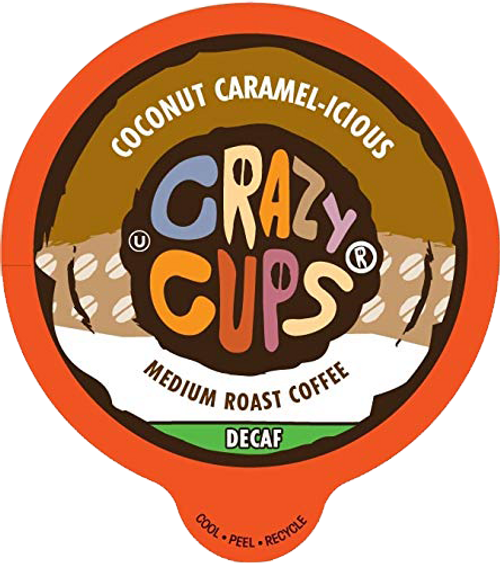 Decaf Coconut Caramelicious Flavored Coffee by Crazy Cups