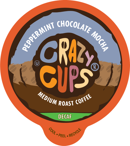 Decaf Peppermint Chocolate Mocha Flavored Coffee by Crazy Cups