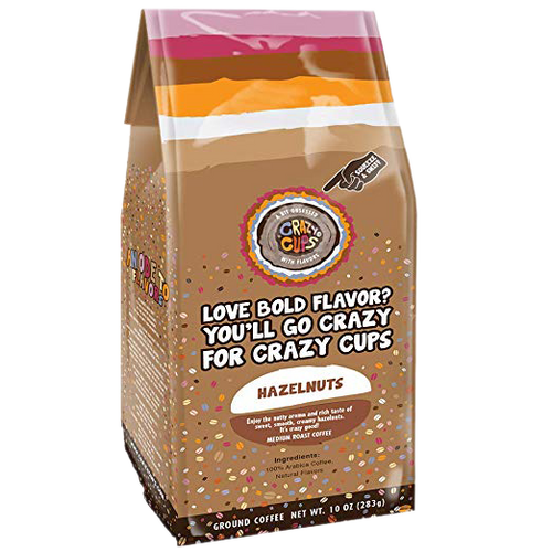 Hazelnuts Ground Bag Flavored Coffee by Crazy Cups