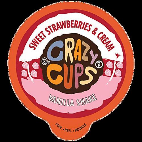 Sweet Strawberries & Cream  Vanilla Shake by Crazy Cups