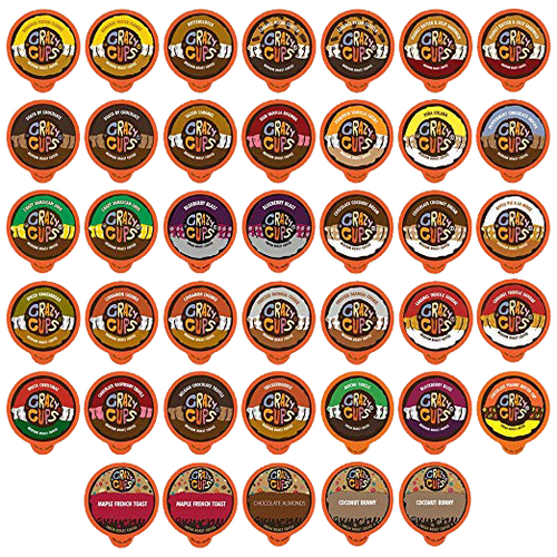Crazy Cups Flavored Coffee Single Serve Cups for Keurig K Cups Brewer Variety Pack Sampler 40-count