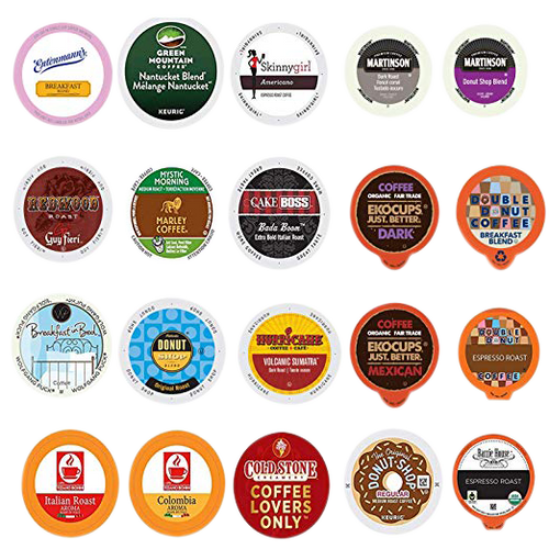 Custom Variety Pack Coffee , Single Serve Cups for Keurig K Cup Brewers, 20 count