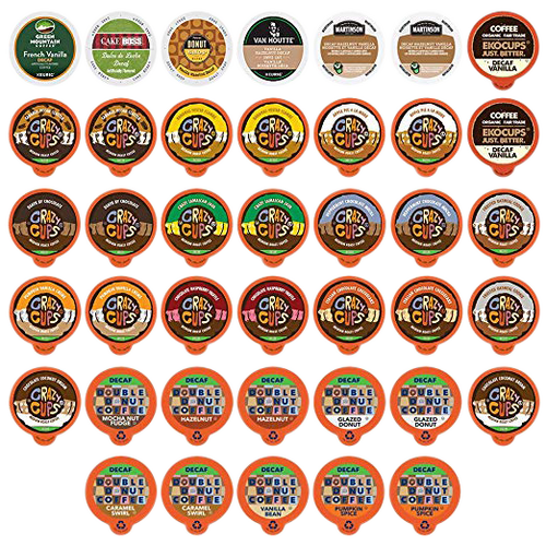 Custom Variety Pack Decaf Flavored Coffee Single Serve Cup for Keurig K cup - 40 Count