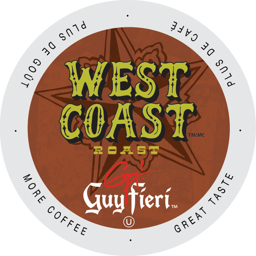 Guy Fieri West Coast Roast Coffee, Keurig-compatible