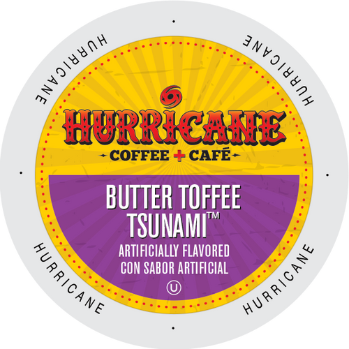 Butter Toffee Tsunami Flavored Coffee by Hurricane