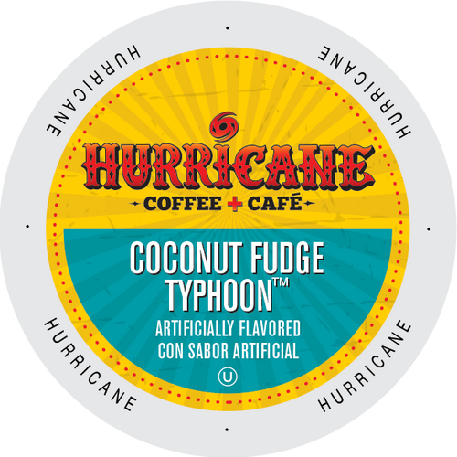 Coconut Fudge Typhoon Flavored Coffee by Hurricane
