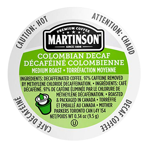 Colombian Decaf Coffee by Martinson
