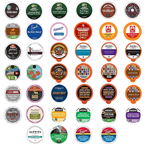 Coffee Variety Sampler Pack Single Serve Cups for Keurig K-Cup Brewers, 40 Count (Premium Sampler)