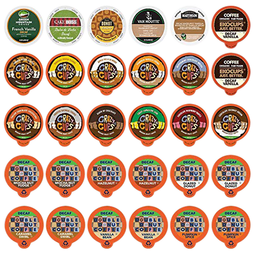 FLAVORED DECAF COFFEE Single Serve Cups for Keurig K cup Brewer Variety Pack Sampler (30 Count)
