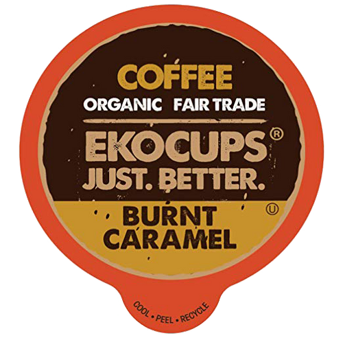 Burnt Caramel Organic Flavored Coffee by EKOCUPS