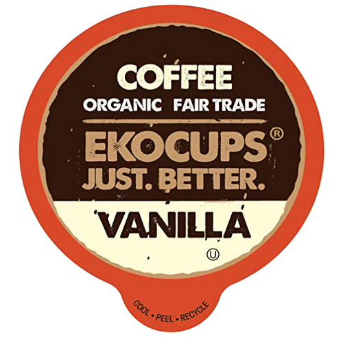 Vanilla Organic Flavored Coffee by EKOCUPS