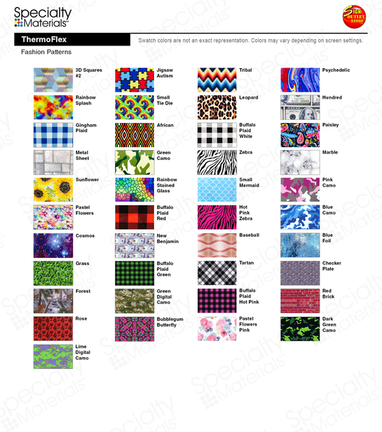 "Fashion Patterns (12"" x 15"" sheets)"