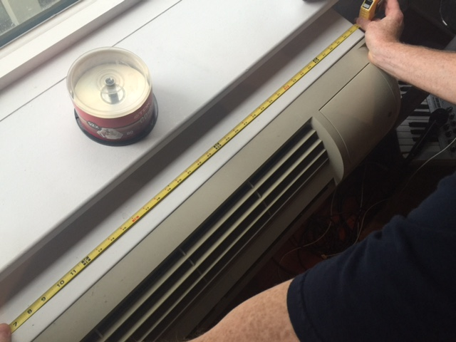 Measuring a PTAC Air Conditioner