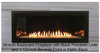 "White Mountain Hearth VBP48LBKR 48"" Reflective Black Porcelain Liner with Burner Cover for 48"" Boulevard Vent Free Linear Fireplaces"