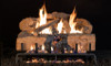 """RH Peterson Real-Fyre CHNS30 30"""" Charred Angel Split Oak Replacement Logs for Vented Burners (LOGS ONLY)"""
