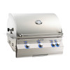"Fire Magic A660i-8EAN Aurora 30"" Built-In Gas Grill with Backburner and Rotisserie - Natural Gas"