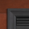 White Mountain Hearth VBS42TBL Outer Frame in Matte Black Breckenridge Select 42