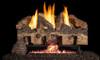 RH Peterson Real-Fyre Charred Gnarled Split Oak Log Set and Vent Free G10 Burner - Choice of Size and Burner Valve