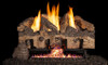 RH Peterson Real-Fyre Charred Gnarled Split Oak Log Set and Vent Free G10 Burner - Choice of Size and Burner Valve