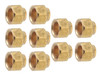 "THS 1/4"" S.A.E. Brass Flare Nuts - Set of 10"