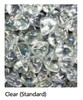 """Superior GP43C 6 Pound Bag of Clear Smooth Pebbles for 43"""" Linear Fireplace"""