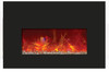 "Amantii INSERT-26-3825-BG 26"" Small Electric Fireplace Insert with Black Glass Surround"