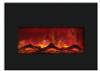 "Amantii INSERT-33-4230-BG 32"" Large Electric Fireplace Insert with Black Glass Surround"
