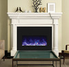 "Amantii INSERT-33-4230 32"" Large Insert Electric Fireplace with Black Glass Surround"