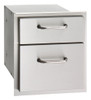 """American Outdoor Grill 16-15-DSSD 15"""" Double Drawer"""