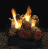 White Mountain Hearth Stone River Log Set - Choice of See-Through Vent Free Burner