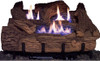 "Everwarm EWPO24R 24"" Palmetto Oak Replacement Logs for Vent Free Burners (LOGS ONLY)"