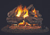 RH Peterson Real-Fyre Charred Red Oak Log Set - Choice of Vented Burner and Valve Kit