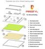 "Prestyl PRUD2020-240 19.5"" x 19.5"" 240V Flat Panel Under Desk Infrared Heater"