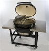 Primo PRM370 Cart with Basket and Stainless Steel Side Tables for Oval 300 Grill