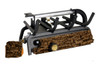 RH Peterson Real-Fyre Bedroom Approved, 9500 BTU Valley Oak Log Set and Vent Free Burner - Choice of Size and Burner Valve