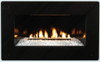 White Mountain Hearth DF20GBL Black Tempered Glass Decorative Front for Loft Series Vent Free Fireplace