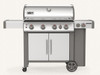 Weber 62006001 Genesis II S-435 Freestanding Gas Grill with Side Burner - Stainless - LP