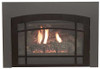 White Mountain Hearth DVF20HBL Lancaster Decorative Front for Small Innsbrook Direct Vent Insert - Matte Black