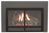 White Mountain Hearth DFD20DBL Transom Decorative Door Front for Small Innsbrook Direct Vent Insert - Matte Black