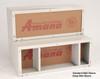 "Amana WS918D1 18"" Deep Extended Wall Sleeve - Stonewood"