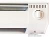 King 6K1215BW 6 Foot 1500 Watt Electric Baseboard Heater - 120 Volt