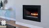 Superior Linear Direct Vent Fireplace with Black Surround