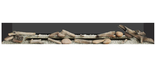 White Mountain Hearth LS60SHF Driftwood / River Rock Accessory Kit for Boulevard Vent Free Contemporary Fireplaces