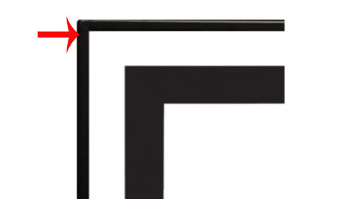 """White Mountain Hearth DF361VBL 3/4"""" Beveled Front Trim for Boulevard 36"""" Linear Fireplaces"""
